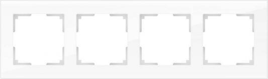 Рамка Favorit на 4 поста белый WL01-Frame-04 4690389061233 werkel рамка favorit на 4 поста белый werkel wl01 frame 04 4690389061233