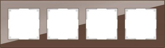 Рамка Favorit на 4 поста мокко WL01-Frame-04 4690389063770 рамка favorit на 4 поста мокко wl01 frame 04 4690389063770