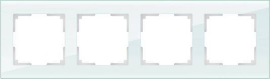 Рамка Favorit на 4 поста натуральное стекло WL01-Frame-04 4690389060199 рамка favorit на 3 поста белый 4690389061226
