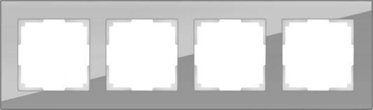Рамка Favorit на 4 поста серый WL01-Frame-04 4690389061288 werkel рамка favorit на 4 поста серый werkel wl01 frame 04 4690389061288