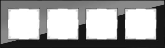 Рамка Favorit на 4 поста черный WL01-Frame-04 4690389063428