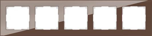 Рамка Favorit на 5 постов мокко WL01-Frame-05 4690389063787 рамка favorit на 3 поста белый 4690389061226