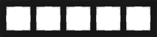 Рамка Favorit на 5 постов черный WL01-Frame-05 4690389063435