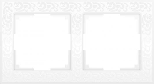 Рамка Flock на 2 поста белая WL05-Frame-02-white 4690389046711