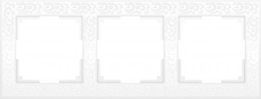 Рамка Flock на 3 поста белая WL05-Frame-03-white 4690389046728
