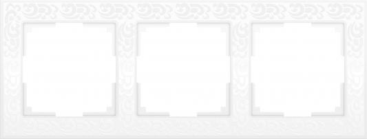 Рамка Flock на 3 поста белая WL05-Frame-03-white 4690389046728 рамка flock на 1 пост белая werkel 1022948