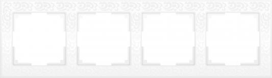 Рамка Flock на 4 поста белая WL05-Frame-04-white 4690389046735 рамка flock на 1 пост белая werkel 1022948