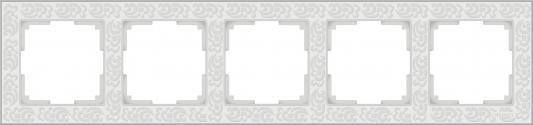 Рамка Flock на 5 постов белая WL05-Frame-05-white 4690389059391 рамка flock на 1 пост белая werkel 1022948