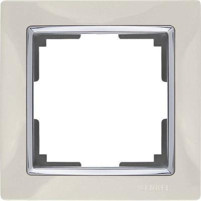 Рамка Snabb на 1 пост слоновая кость WL03-Frame-01-ivory 4690389046308