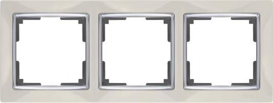 Рамка Snabb на 3 поста слоновая кость WL03-Frame-03-ivory 4690389046322