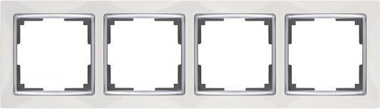 Рамка Snabb на 4 поста белая WL03-Frame-04-white 4690389046131