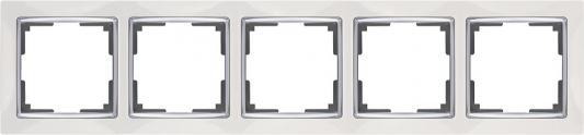 Рамка Snabb на 5 постов белая WL03-Frame-05-white 4690389059346