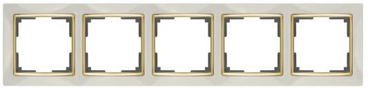 Рамка Snabb на 5 постов слоновая кость WL03-Frame-05-ivory 4690389059339 werkel рамка snabb на 5 постов слоновая кость золото wl03 frame 05 ivory gd 4690389083945