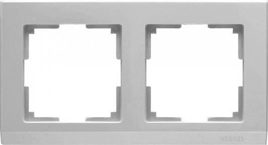 Рамка Stark на 2 поста серебряный WL04-Frame-02 4690389063695