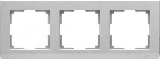 Рамка Stark на 3 поста серебряный WL04-Frame-03 4690389063701