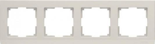 Рамка Stark на 4 поста слоновая кость WL04-Frame-04-ivory 4690389046537