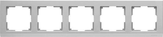Рамка Stark на 5 постов серебряный WL04-Frame-05 4690389063732