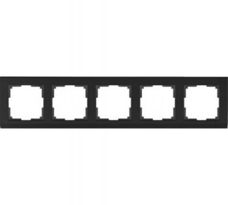 Рамка Stark на 5 постов черный WL04-Frame-05-silver/black 4690389059353