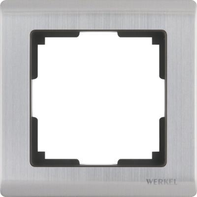 Рамка Metallic на 1 пост глянцевый никель WL02-Frame-01 4690389045905 рамка flock на 1 пост белая werkel 1022948