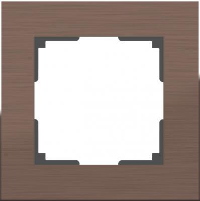 Рамка Aluminium на 1 пост алюминий коричневый WL11-Frame-01 4690389073687 насадка для кухонного комбайна bosch muz5cc2