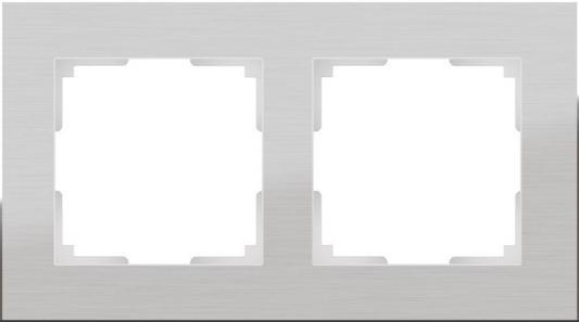 Рамка Aluminium на 2 поста алюминий WL11-Frame-02 4690389073632 рамка aluminium на 2 поста алюминий черный wl11 frame 02 4690389110450