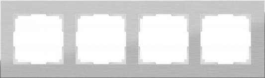 Рамка Aluminium на 4 поста алюминий WL11-Frame-04 4690389073663