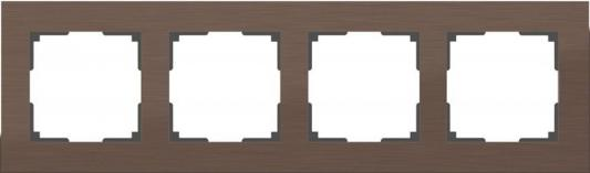Рамка Aluminium на 4 поста алюминий коричневый WL11-Frame-04 4690389073717
