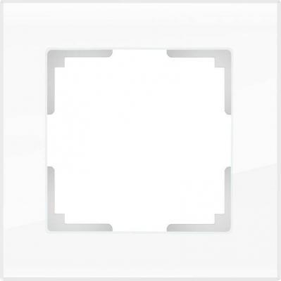 Рамка Favorit для двойной розетки белый стекло WL01-Frame-01-DBL 4690389073120