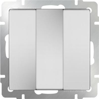 Выключатель трехклавишный белый WL01-SW-3G 4690389073427