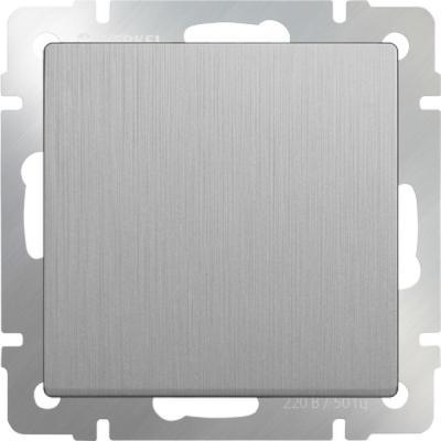 Выключатель одноклавишный проходной серебряный рифленый WL09-SW-1G-2W 4690389085116 бра colosseo susanna 80311 2w