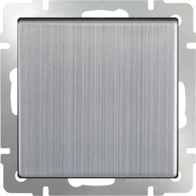 Выключатель одноклавишный проходной глянцевый никель WL02-SW-1G-2W 4690389045745