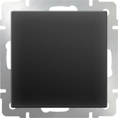 Выключатель одноклавишный проходной черный матовый WL08-SW-1G-2W 4690389054143 бра colosseo susanna 80311 2w