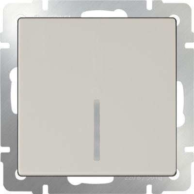 Выключатель одноклавишный с подсветкой слоновая кость WL03-SW-1G-LED-ivory 4690389059261 werkel выключатель двухклавишный с подсветкой wl08 sw 2g led