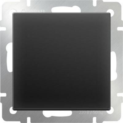 Перекрестный переключатель одноклавишный черный матовый WL08-SW-1G-C 4690389073618