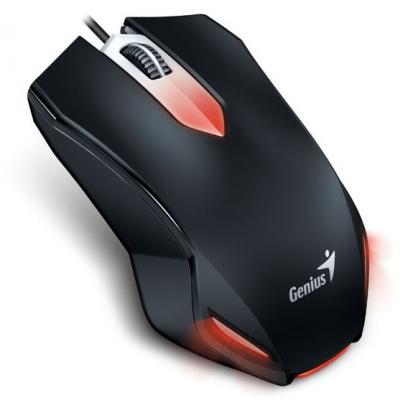 Мышь проводная Genius X-G200 черная USB гарнитура genius hs 04su с устранением шумовых помех для msn