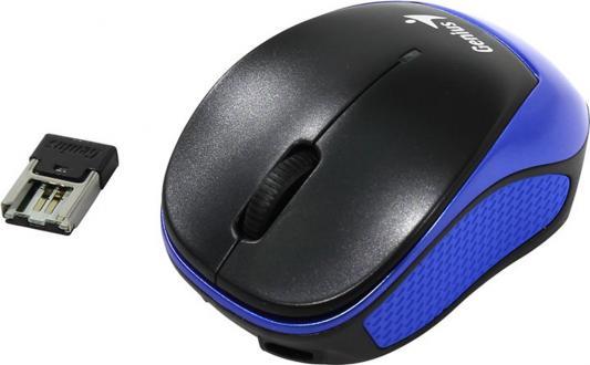 Мышь беспроводная Genius Micro Traveler 9000R V3 синий чёрный USB genius hs 300a silver