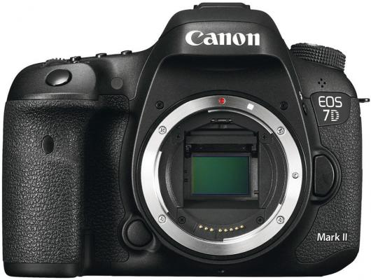 Зеркальная фотокамера Canon EOS 7D Mark II Body + Wi-fi адаптер черный 9128B128 зеркальный цифровой фотоаппарат canon eos 7d mark ii body