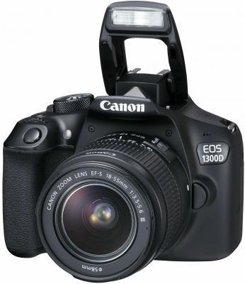 Зеркальная фотокамера Canon EOS 1300D + EF-S 18-55mm DС III черный 1160C009