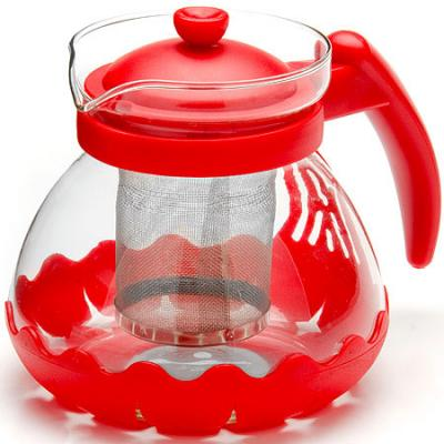 Чайник заварочный Mayer&Boch 26173-1 красный 0.7 л металл/стекло. Производитель: Mayer&Boch, артикул: 8989781
