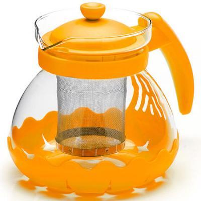 Чайник заварочный Mayer&Boch 26173-2 жёлтый 0.7 л металл/стекло