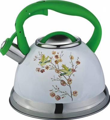 Чайник Bekker BK-S599 белый рисунок зелёный 2.7 л нержавеющая сталь