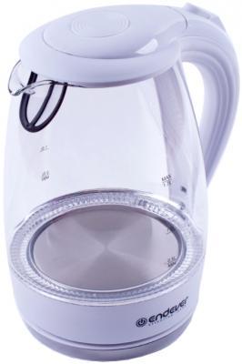Чайник ENDEVER KR-324G 2200 Вт белый 1.7 л пластик/стекло чайник endever 321g kr 2800 вт 1 7 л пластик стекло чёрный прозрачный