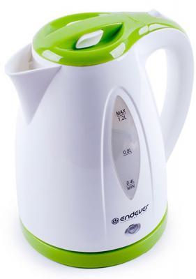 Чайник ENDEVER 361-KR 2100 Вт белый зелёный 1.2 л пластик пылесосы endever пылесос