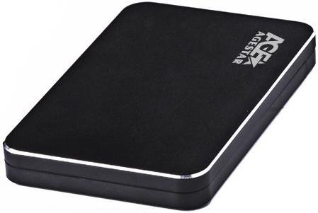 "Внешний контейнер для HDD 2.5"" SATA AgeStar 31UB2A18C USB3.1 TYPE-C алюминий черный"