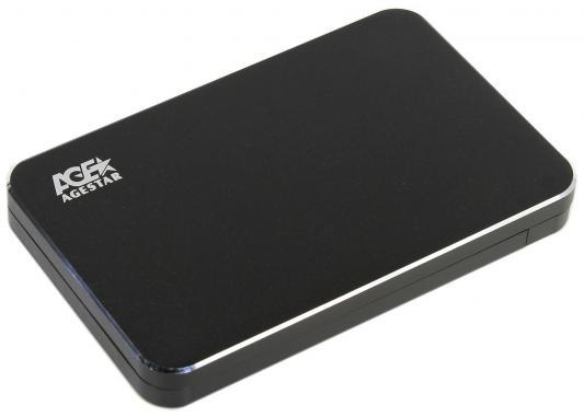 Внешний контейнер для HDD 2.5 SATA AgeStar 3UB2A18C USB3.0 type-C алюминий черный внешний контейнер для hdd 2 5 sata agestar sub2a7 usb 2 0 алюминий