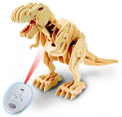 """Деревянный конструктор D-Lex """"Тираннозавр"""" 104 элемента звук, движение"""