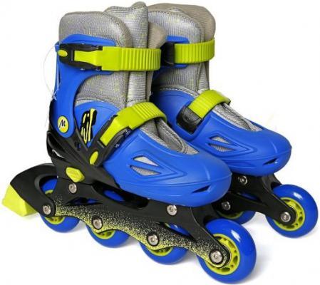 Коньки роликовые, пласт., р.34-37 641021 роликовые коньки moby kids р 34 37 сине зеленый 641021