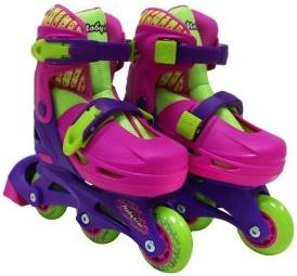 Набор коньки роликовые Moby Kids 2в1, защита, шлем, пласт.,р.30-33