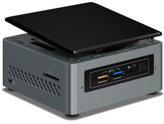 Платформа Intel NUC BOXNUC6CAYH Intel Celeron-J3455 Intel HD Graphics 500 Без ОС черный серебристый BOXNUC6CAYH 950804