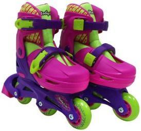 Набор коньки роликовые Moby Kids 2в1, защита, шлем, пласт.,р.27-29   641014